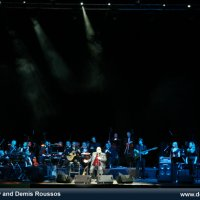 "Demis Roussos, ""ABand"" & Lithuanian Symphony Orchestra. Conductor - Modestas Pitrenas."