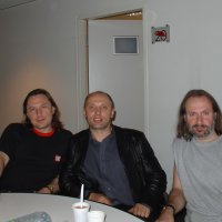Three of us - Andrey Denisov, Andrey (the bus driver), Andrey Shatunovskiy (Germany).