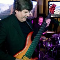 """Invisible Life"" live in ""Sky Lounge"", Moscow. Alexander Boldyrev - bass-guitar, Andrey Shatunovskiy - drums."